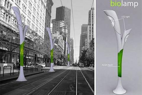 Концепт-проект уличного фонаря Biolamp