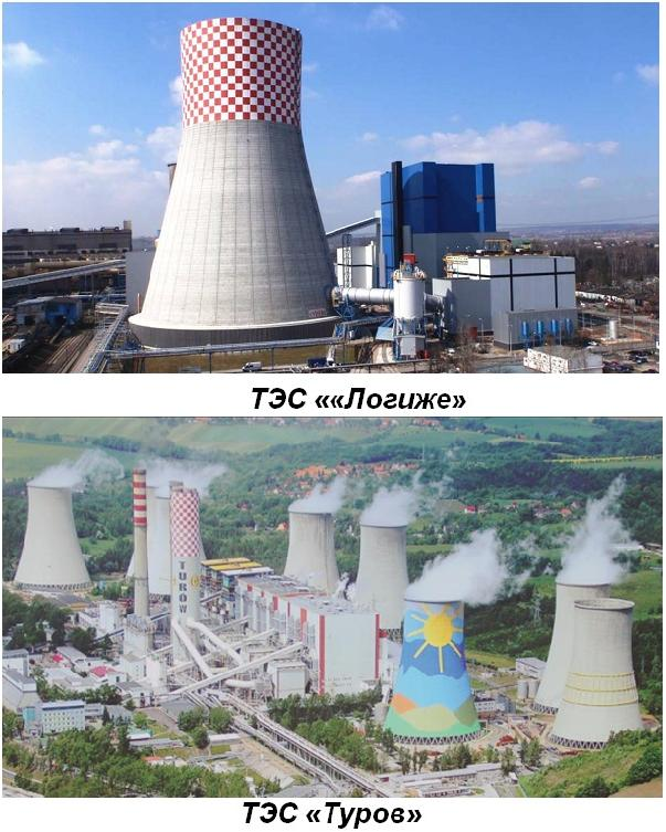 Рис.№2. Крупнейшие в Польше (и в Европе) ТЭС использующие технологию ЦКС
