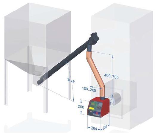 Схема работы пеллетной горелки