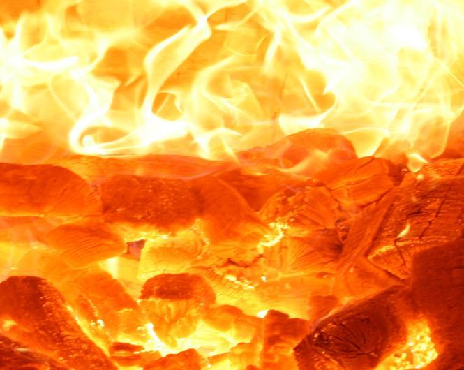 Пиролизная печь горение