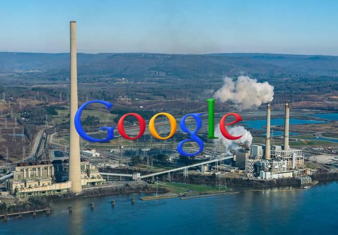 Угольная станция Google