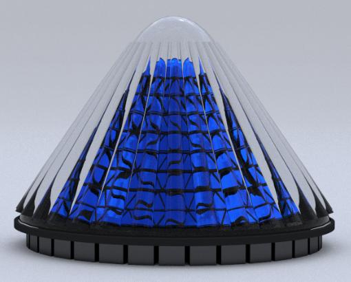 Конусообразная солнечная батарея