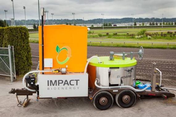 Мобильная биогазовая установка