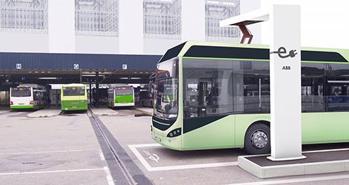Быстрая зарядка автобусов от АББ