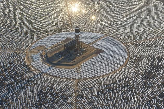 солнечная станция в Сахаре