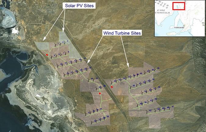 В Австралии построят гибридную солнечно-ветряную электростанцию